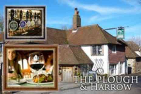 The Plough and Harrow - Two Course Pub Meal  With Glass of Wine Each - Save 57%