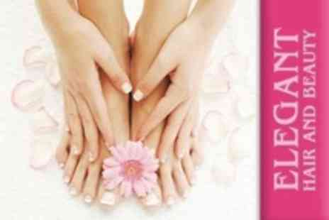 Elegant Hair and Beauty - Luxury Manicure and Pedicure With Paraffin Wax - Save 57%