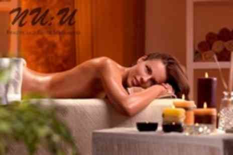 NU:U - Candlelit Massage Choice of 75 Minute Full Body Treatment - Save 58%