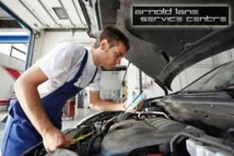 Arnold Lane Service Centre - Car Service including 45 Point Check, Oil and Filter Change, Engine Diagnostics and Wash - Save 73%
