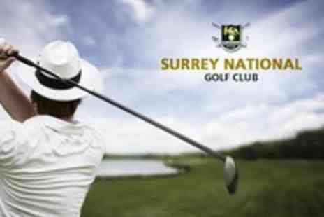 Surrey National Golf Club - Day of Golf For Two  or Four With 60 Range Balls Each - Save 71%