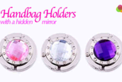 Gift Me Something Special - One Round Gem Studded Handbag Holder with Mirror - Save 75%