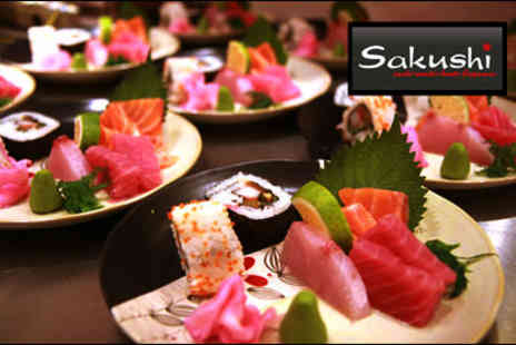 Sakushi - Ten plates of tasty sushi for two to share - Save 64%