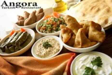 Angora - Two Course Meze Meal With Tea For Two - Save 65%