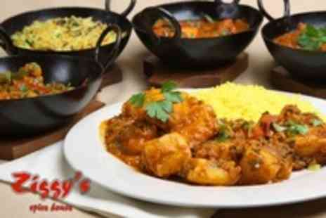 Ziggys Spice House - Two Course Indian Meal With Rice and Poppadom For Two - Save 58%