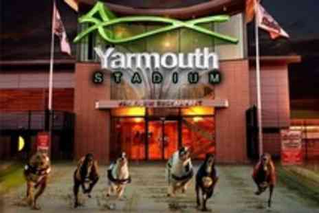 Yarmouth Stadium - Greyhound Racing For Two With Race Cards, Burger and Chips Plus Drink Each - Save 58%