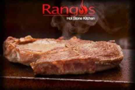 Rangos - Three Course Hot Stone Steak Meal With Cocktails For Two - Save 53%