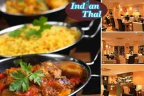 Indian Thal - Two Course Indian Meal For Two With Rice and Naan Each - Save 68%