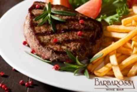 Barbarossa Wine Bar - Three Course Italian Meal For Two - Save 52%