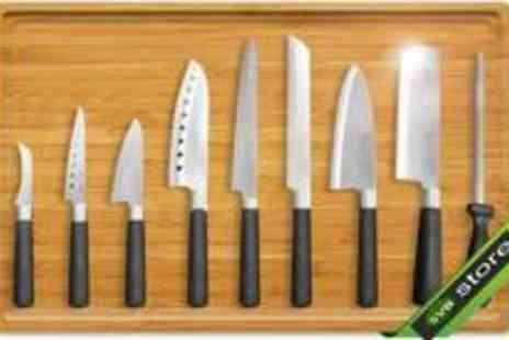 SVB Trading - 9 piece Kitchen Knife Set - Save 83%