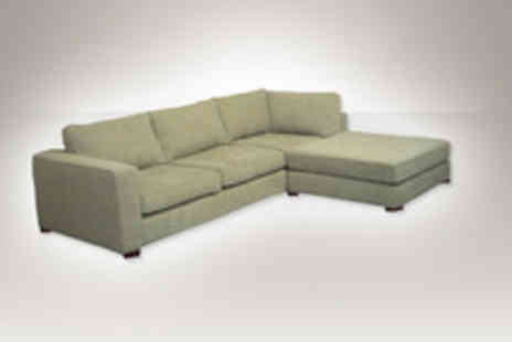 Leather Fabric Sofas - A fabric sofa and matching footstool in a selection of colours - Save 83%