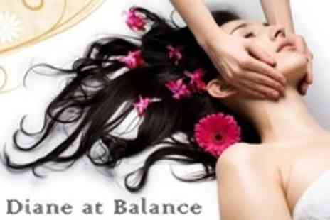 Diane at Balance - Back Massage and Indian Head Massage Plus Arm, Leg or Foot Massage - Save 62%