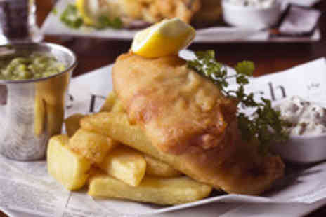 Ocho on the Canal - Fish & chips for 2 including bread & butter, scones & tea or coffee - Save 63%