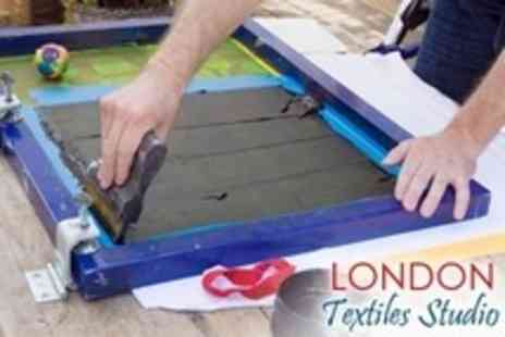 London Textiles Studio - Screen Printing Workshop For One Including T Shirt and Tea and Cake - Save 53%