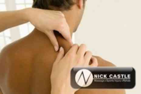 Nick Castle Sports Massage - One Hour Sports Massage With Consultation - Save 57%