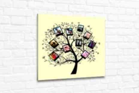 Photoart Warehouse - Personalised Family Tree Photo Canvas in Choice of Sizes - Save 70%