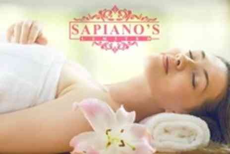 Sapianos - Pamper Package with Back Massage, Choice of Facial Plus Luxury Manicure and Pedicure - Save 22%