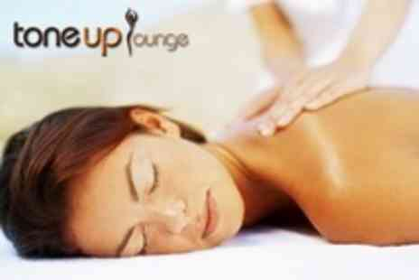 Toneup Lounge - Back Massage and Deluxe Facial With Sauna and Steam Room Access - Save 63%