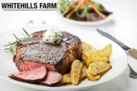 Whitehills Farm - Steak Dinner With Bottle of Wine For Two People - Save 53%