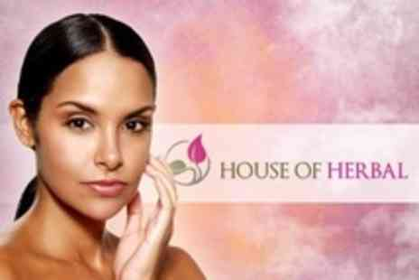 House of Herbal - Aromatherapy Facial Plus Wax or Threading For Eyebrows and Upper Lip - Save 64%