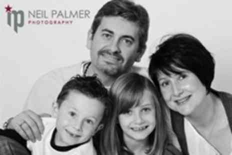 Neil Palmer Photography - Winter Family Photoshoot With Mounted Print - Save 24%