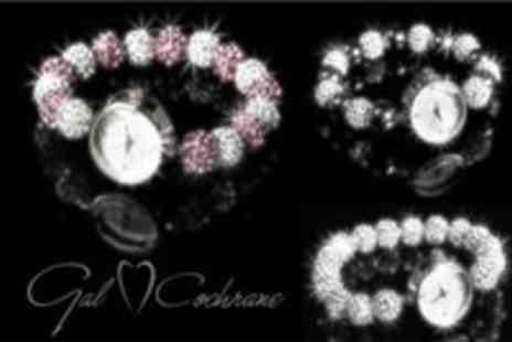 Gal Cochrane - Choice of 3 Disco Ball Crystal Pave Watches - Save 87%