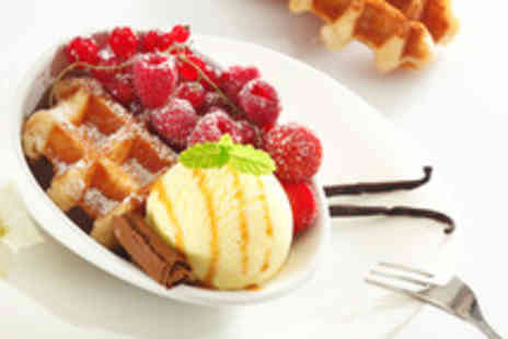 Yumi Ice Cream Parlours - Waffle or crepe ice cream 2 toppings & drink - Save 50%