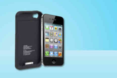 Blue Buds - IPhone 4 power backup protective case boost your battery - Save 63%