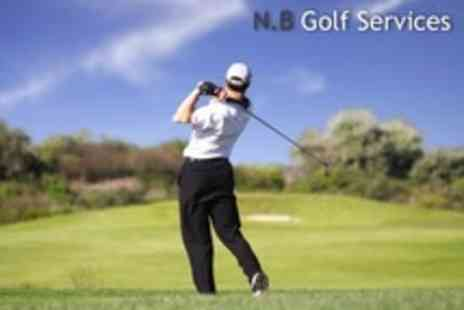 N.B Golf Services - Two Golf Lessons With One Including iPad Video Swing Analysis Plus 90 Driving Range Balls - Save 70%