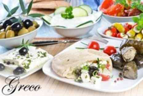 Greco - 11 Meze Greek Cuisine Dishes to Share Between Two With Glass of Wine Each - Save 15%
