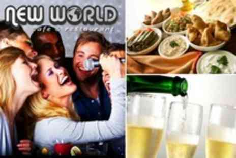 New World Cafe - Karaoke Party For Ten Two Hour Booth Hire With Mezze Platter and Bubbly - Save 91%