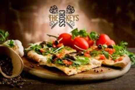 The Cross Keys - Pizza For Two or Four With Drink from or Cocktail - Save 46%