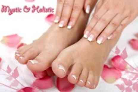 Mystic and Holistic - Manicure and Pedicure - Save 63%
