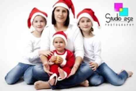 Studio 252 - Christmas Family Portrait Photoshoot With Ten Greetings Cards and Print - Save 94%