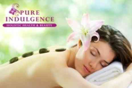 Pure Indulgence - Hot Stone Back Massage With Hand and Foot Treatment - Save 57%