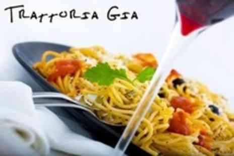 Trattoria Gia - Three Course Italian Meal For Two With Wine and Coffee - Save 57%