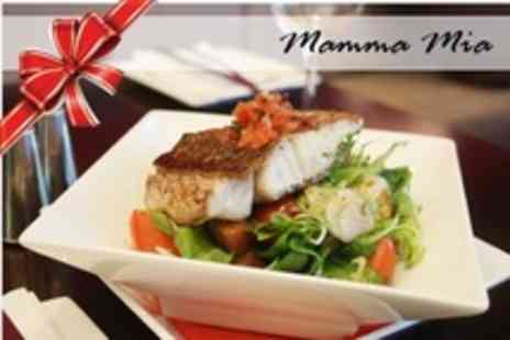Mamma Mia - Three Course Italian Christmas Meal With Prosecco and Appetisers For Two - Save 50%
