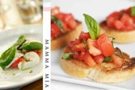 Mamma Mia - Two Courses of Italian Cuisine For Two With Wine - Save 53%
