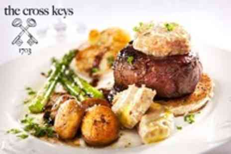 The Cross Keys - Two Course Meal For Two - Save 62%