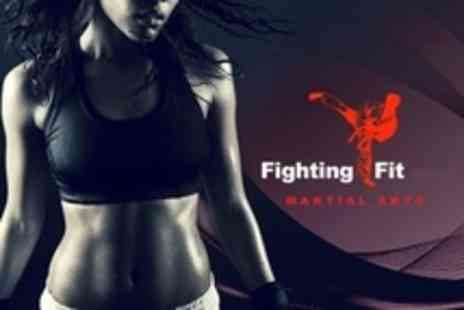 Fighting Fit Martial Arts - One Month of Exercise Classes Such as Kickboxercise - Save 65%