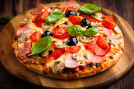 Zaza Pizza - 12 inch medium pizza, chips, coleslaw, oven baked sandwich & drink - Save 68%