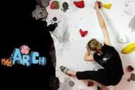 The Arch Climbing Wall - Climbing day pass with full access to climbing facility - Save 70%