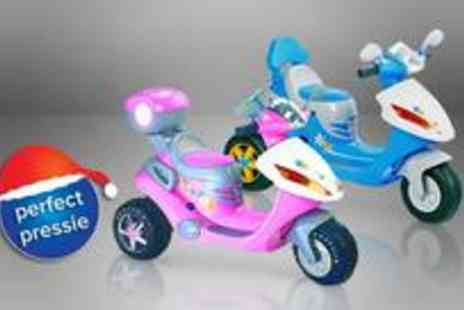 Guaranteed4less.com - 6v kids ride on electric battery powered motorbike scooter in pink - Save 40%