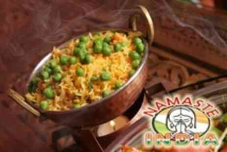 Namaste India - Two Course Vegetarian Indian Meal For Two With Poppadoms, Rice and Roti - Save 50%