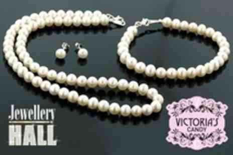 Jewellery Hall - One Classic Fresh Water Pearl Sets Including Delivery - Save 83%