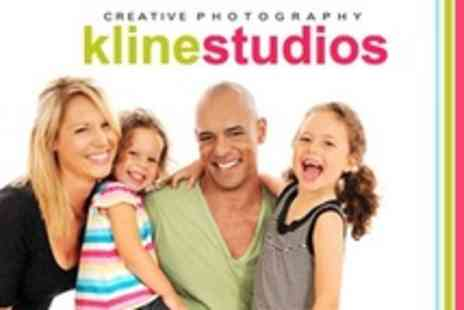 Kline Studios - Family Shoot With Photo Christmas Cards or Framed Print - Save 90%