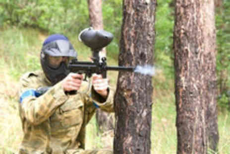National Paintball Games - Up to 5 people including lunch & 100 paintballs each - Save 93%