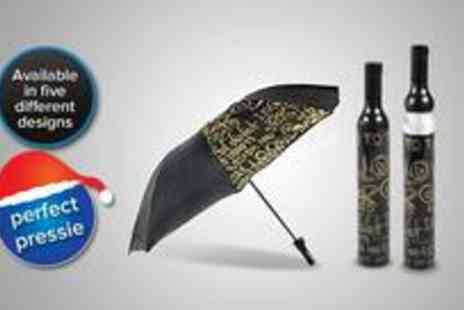 Beautyworld - Wine bottle umbrella the practical and fashionable way - Save 45%