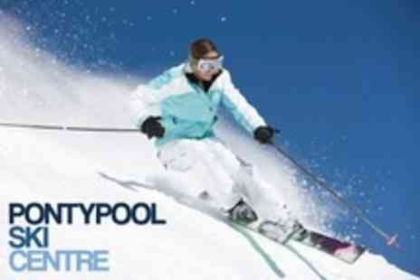 Pontypool Ski Centre - Two Beginner Skiing or Snowboarding Lessons - Save 64%