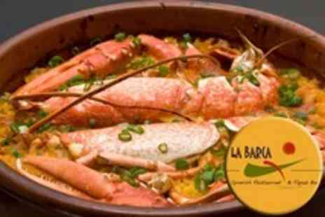 La Barca Restaurant - Two Course Spanish Meal For Two With Glass of Wine Each - Save 61%